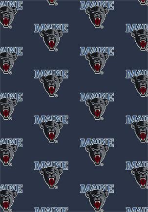 """Maine Black Bears 3' 10"""" x 5' 4"""" Team Repeat Area Rug"""