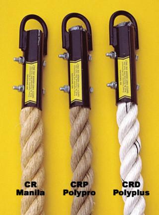 """Manila Fiber Indoor Gymnasium Climbing Rope (18' L x 1 1/2"""" diameter)"""