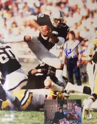 "Marcus Allen Autographed ""ROY 82, 85 MVP, SB XVIII MVP, HOF 03"" Raiders 16"" x 20"" Photograph"