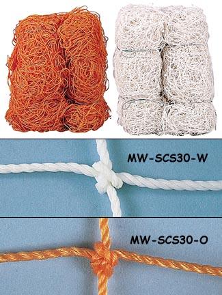 Markwort Orange 3 mm Soccer Goal Net - 1 Pair