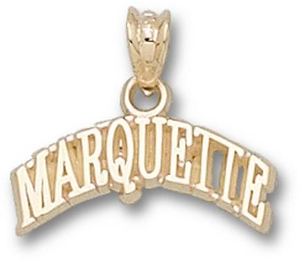 "Marquette Golden Eagles Arched ""Marquette"" Pendant - 14KT Gold Jewelry"