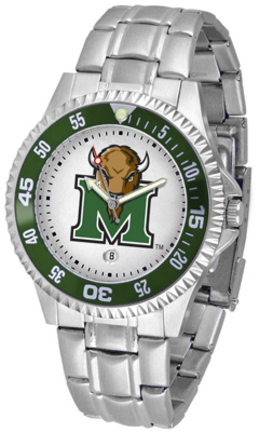 Marshall Thundering Herd Competitor Watch with a Metal Band