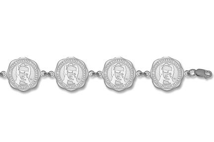 "Marshall Thundering Herd ""Seal"" 7 5/8"" Bracelet - Sterling Silver Jewelry"