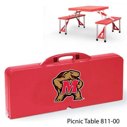Maryland Terrapins Portable Folding Table and Seats