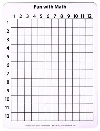 Math Whiteboard 9 X 12 10 Pk
