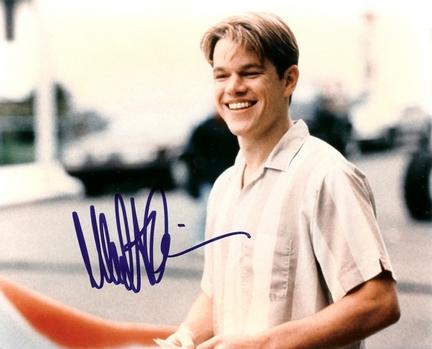 """Matt Damon Autographed 8"""" x 10"""" Photograph (Unframed)"""