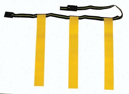 Medium Deluxe Rip Flags And Belt For Flag Football - 1 Dozen
