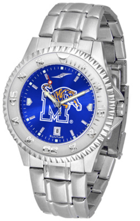 Memphis Tigers Competitor AnoChrome Men's Watch with Steel Band