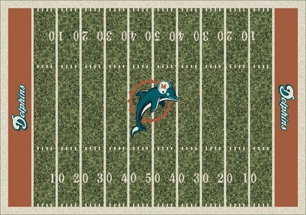 """Miami Dolphins 3' 10"""" x 5' 4"""" Home Field Area Rug"""