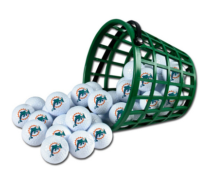 Miami Dolphins Golf Ball Bucket (36 Balls)