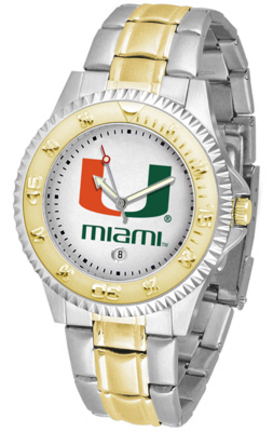 Miami Hurricanes Competitor Two Tone Watch