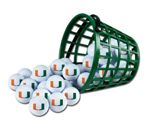 Miami Hurricanes Golf Ball Bucket (36 Balls)