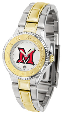Miami (Ohio) RedHawks Competitor Ladies Watch with Two-Tone Band
