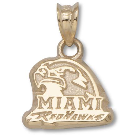 "Miami (Ohio) RedHawks ""Miami RedHawks"" Hawk Head Pendant - 10KT Gold Jewelry"