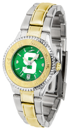 Michigan State Spartans Competitor AnoChrome Ladies Watch with Two-Tone Band