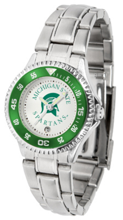 Michigan State Spartans Competitor Ladies Watch with Steel Band