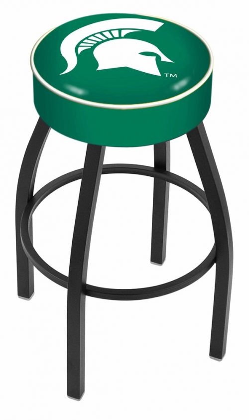 """Michigan State Spartans (L8B1) 25"""" Tall Logo Bar Stool by Holland Bar Stool Company (with Single Ring Swivel Black Solid Welded Base)"""