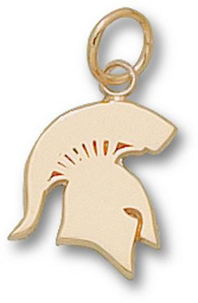 """Michigan State Spartans """"Solid Spartan"""" 1/2"""" Charm - 14KT Gold Jewelry"""