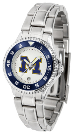 Michigan Wolverines Competitor Ladies Watch with Steel Band