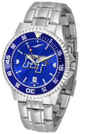 Middle Tennessee State Blue Raiders Competitor AnoChrome Men's Watch with Steel Band and Colored Bezel