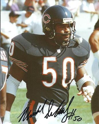 """Mike Singletary """"Blue Jersey"""" Autographed Chicago Bears 8"""" x 10"""" Photograph Hall of Famer (Unframed)"""