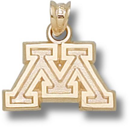 "Minnesota Golden Gophers Block ""M"" Pendant - 10KT Gold Jewelry"