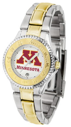 Minnesota Golden Gophers Competitor Ladies Watch with Two-Tone Band