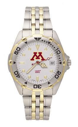 Minnesota Golden Gophers NCAA Men's All Star Watch with Stainless Steel Bracelet