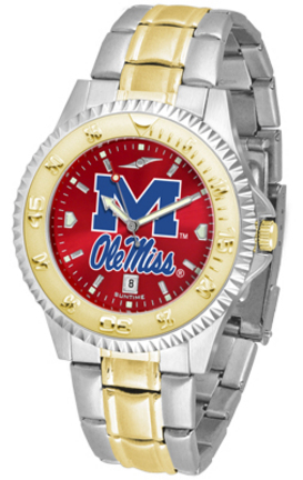 Mississippi (Ole Miss) Rebels Competitor AnoChrome Two Tone Watch