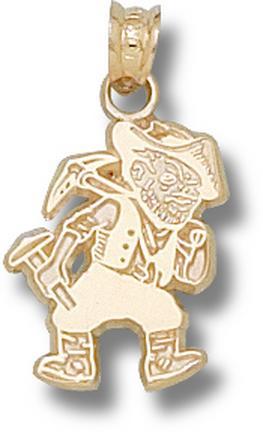 """Missouri (Rolla) Miners """"Joe Miner"""" 5/8"""" Pendant - 10KT Gold Jewelry"""