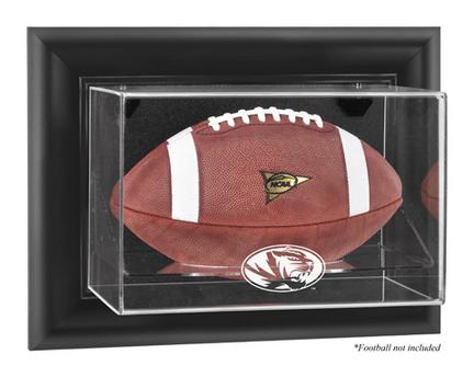 Missouri Tigers Black Framed Wall Mountable Logo Football Display Case