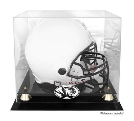 Missouri Tigers Golden Classic Logo Football Helmet Display Case with Mirror Back