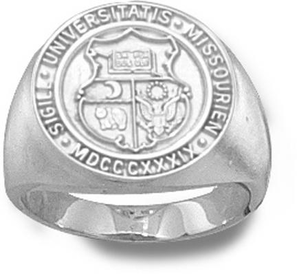 "Missouri Tigers ""Seal"" Ladies' Ring Size 6 1/2 - Sterling Silver Jewelry"