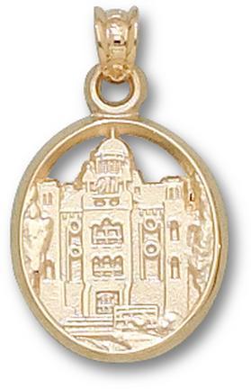 "Mount Union Purple Raiders ""Chapman Hall"" Pendant - 10KT Gold Jewelry"