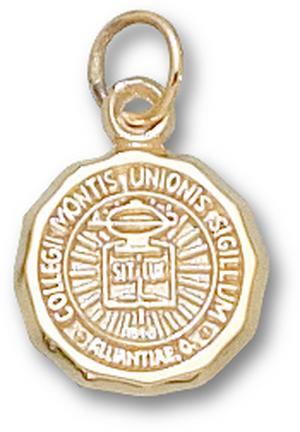 "Mount Union Purple Raiders ""Seal"" 1/2"" Charm - 10KT Gold Jewelry"