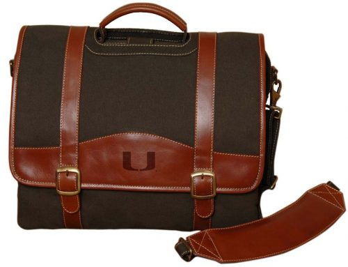 NCAA Miami Hurricanes Greenmill Canyon Computer Briefcase