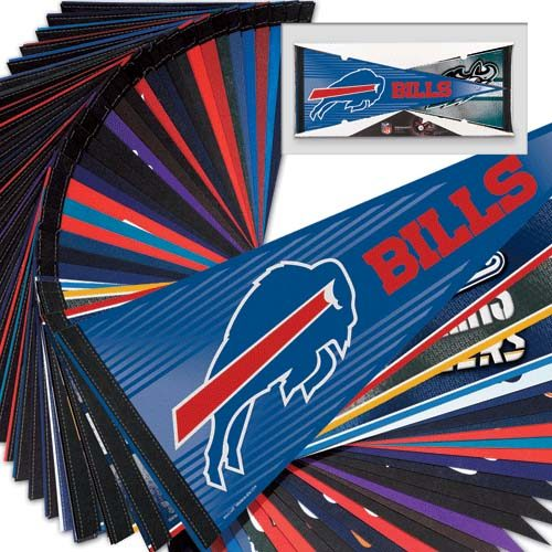 "NFL Team Pennants 12"" x 30"" - Set of 32 National Football League Teams"
