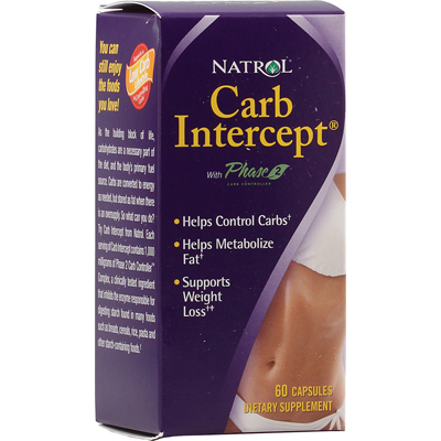 Natrol Carb Intercept With Phase 2 Starch Neutralizer - 60 Capsules - -Pack of 1