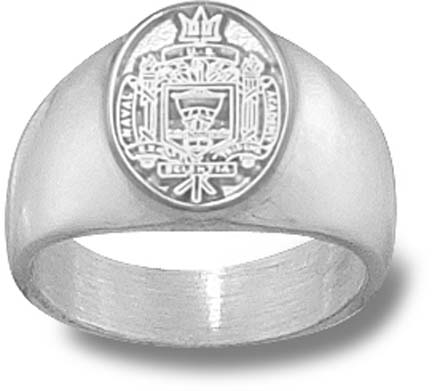 """Navy Midshipmen """"Seal"""" Ladies' Ring Size 7 - Sterling Silver Jewelry"""