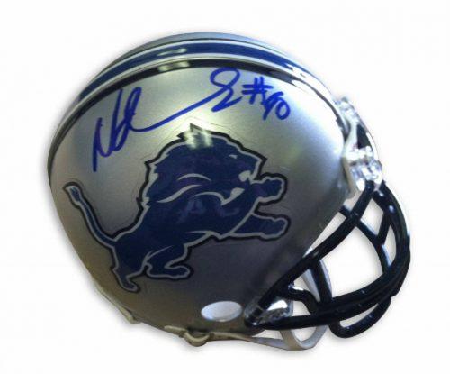 Ndamukong Suh Detroit Lions Autographed Mini Football Helmet
