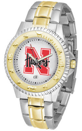 Nebraska Cornhuskers Competitor Two Tone Watch