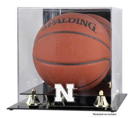 Nebraska Cornhuskers Golden Classic Logo Basketball Display Case with Mirror Back