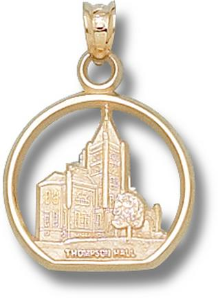 """New Hampshire Wildcats """"T Hall"""" Pendant - 10KT Gold Jewelry"""