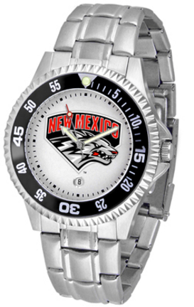 New Mexico Lobos Competitor Watch with a Metal Band