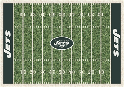 """New York Jets 3' 10"""" x 5' 4"""" Home Field Area Rug"""