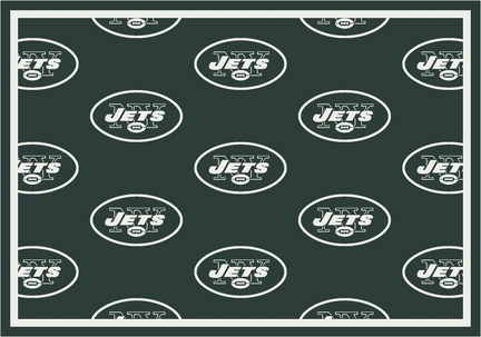 """New York Jets 3' 10"""" x 5' 4"""" Team Repeat Area Rug (Green)"""
