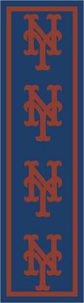 "New York Mets 2' 1"" x 7' 8"" Team Repeat Area Rug Runner"
