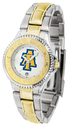 North Carolina A & T Aggies Competitor Ladies Watch with Two-Tone Band
