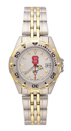 """North Carolina State Wolfpack """"S"""" All Star Watch with Stainless Steel Band - Women's"""