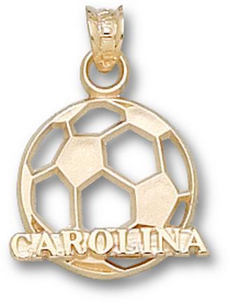 "North Carolina Tar Heels ""Carolina Soccer Ball"" Pendant - 10KT Gold Jewelry"